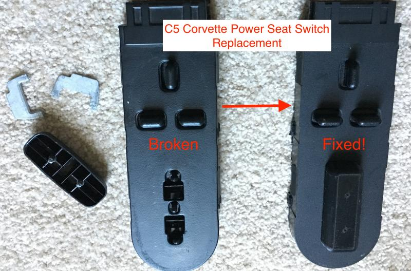 C5 Corvette Power seat switch